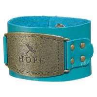 Hope - Turquoise (Ladies Leather Cuff Wristband)