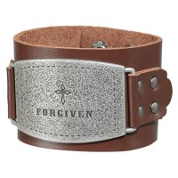 Forgiven - Brown (Ladies Leather Cuff Wristband)
