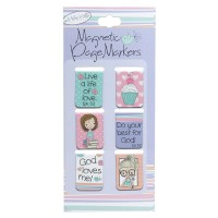 Holly & Hope :   Magnetic pagemarkers - Set of 6, 6006937121997