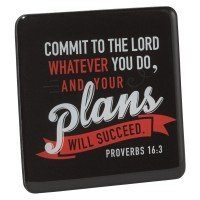 Commit to the Lord whatever you do :   Magnet - 73 x 73 mm, 6006937122543