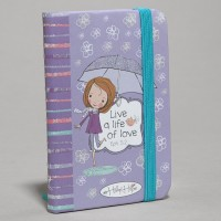 Live a life of love - Purple : Notebook - Small, 6006937122192