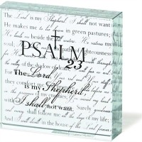 Psalm 23 - Glass Tabletop Decor - 76 x 76 mm