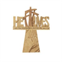 He lives - Wall Cross - 22,9 cm