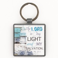 The Lord is my light - Metal keyring
