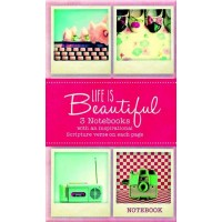 Life is Beautifull - set of 3 pieces : Notebook  set, 6006937121645
