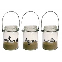 Faith Hope Love - Set of 3 :   Lanterns - Mason jar, 759830227735