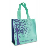 Tree of life - Teal and purple : Eco  tote, 759830227292