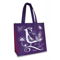 Be still and know - Purple, pink and white Reusable shopping bag - 30 x 30 x 15 cm