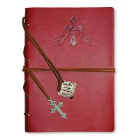 Cross - Red Faux Leather journal with gold gilding