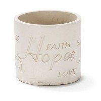 Faith Hope Joy Peace - 10 cm high : Garden  planter, 603799554336