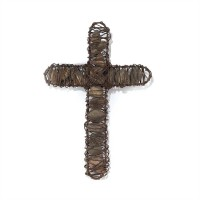 Metal cross with stones - 30 cm