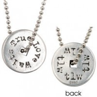 True Love Waits Washer - Necklace 60 cm