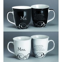Mr. & Mrs. - Black White - 475ml