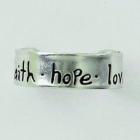 Faith Hope Love :   Toe ring - Sterling silver, 637955039788