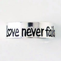 Love never fails :   Toe ring - Sterling silver, 637955046106