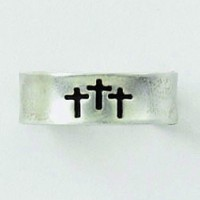 Three crosses :   Toe ring - Sterling silver, 637955039764