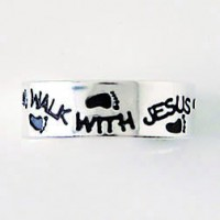 Walk with Jesus (Sterling silver toe ring)