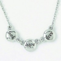Faith Hope Love (Silver colored necklace)