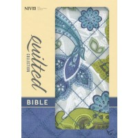 Quilted Collection Compact Bible Blue Paisley - Flexcover