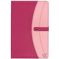 Pink Bible Duo tone Pink - Imit. Leather