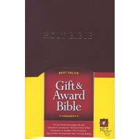 Nlt2 award bible burgundy leatherflex