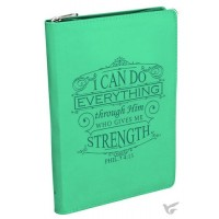 I can do everything, LuxLeather Journal 14,5 x 21 cm Zipper closure