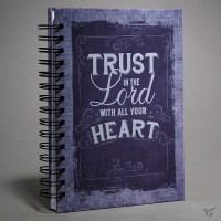 Trust in the Lord with all - Purple : Large wirebound journal, 9781432112448