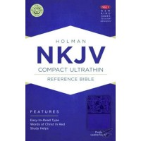 NKJV Compact UltraThin Reference Bible Purple - Imit. Leather