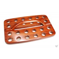 Avondmaal cup tray 25 cups hout 30.3x19c :   , 8997229950396
