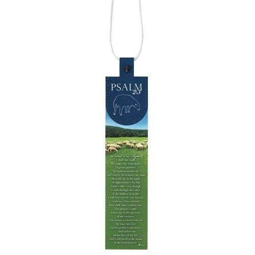 Psalm 23 - Faux Leather Bookmark