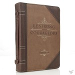 Be strong and courageous - LuxLeather - Biblecover Medium For bibles upto 156 x 224 x 40 mm