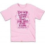 You Are Loved (Damen T-Shirt, pink, Size: MD) Gr