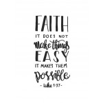 Poster A3 Faith makes things possible