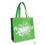 With God all things are possible - Green and white Reusable shopping bag - 30 x 30 x 15 cm