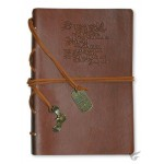 But those who hope in the Lord - Brown Faux Leather journal with gold gilding