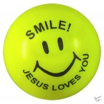 Smile Jesus loves you - Stress ball 5 cm (set van 12 stuks)