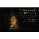 Be strong and Courageous - Magnet 80 x 50 mm