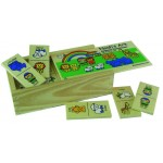 Noah's Ark - Domino game Wood