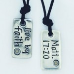 Live by Faith (Pewter necklace)