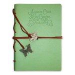 New creation - Green Faux Leather journal with gold gilding