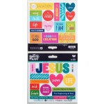 His Name - Cardstock stickers