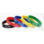 Armband rubber vis geel