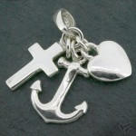 Silver pendant faith hope love